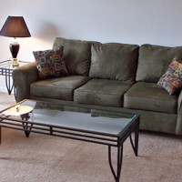 Very Basic Intern Sofa, Recliner and Coffee End Table Package