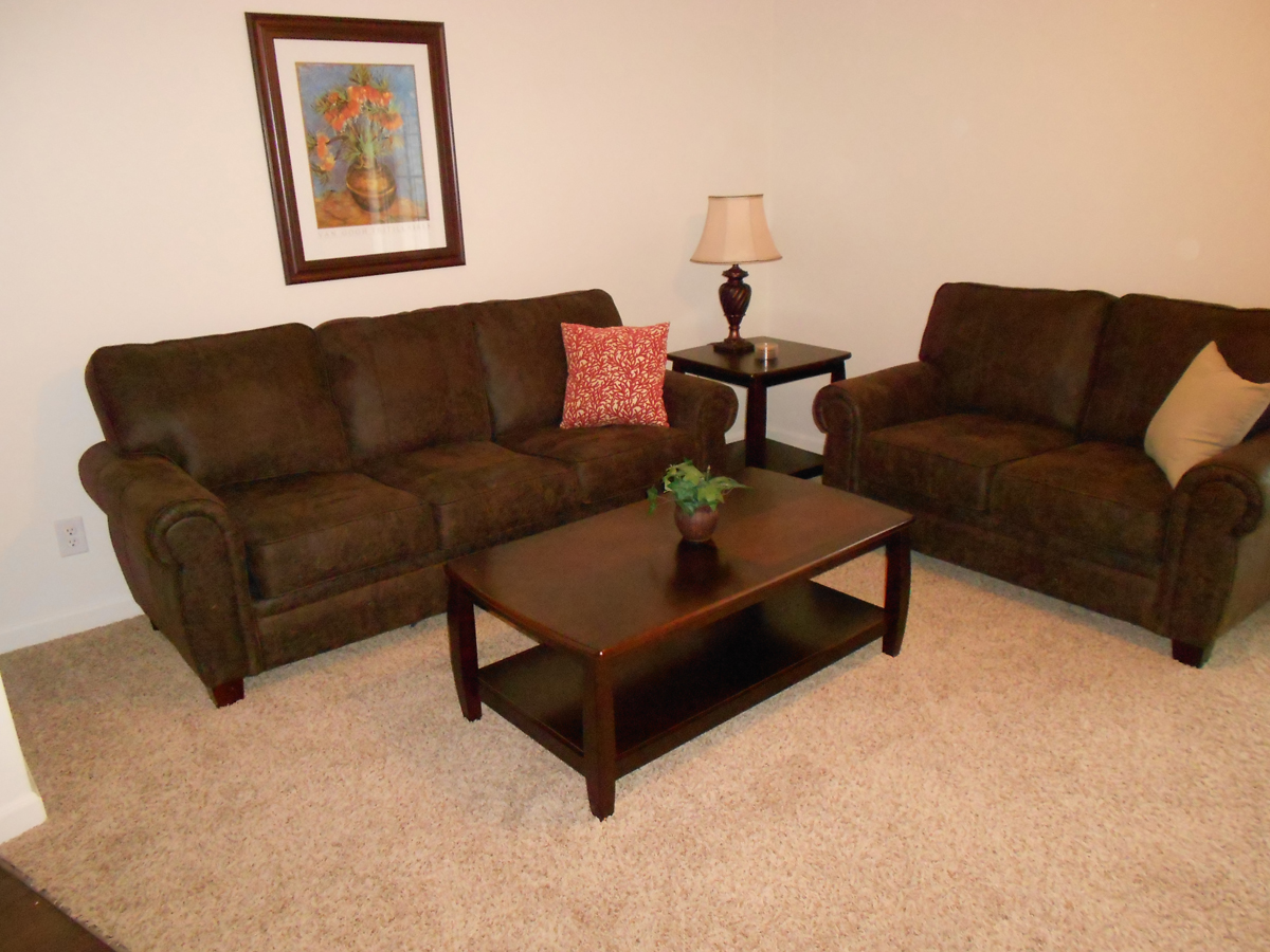 Brown suede leather living room set upscale furniture - Brown suede living room furniture ...